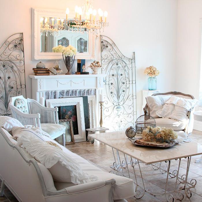 Come arredare un soggiorno in stile shabby chic | Linea Calì